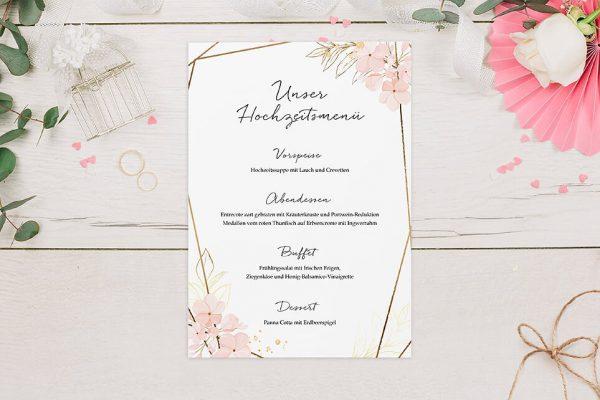 Extras Floral Elegant Blumenzeichnung Menükarten