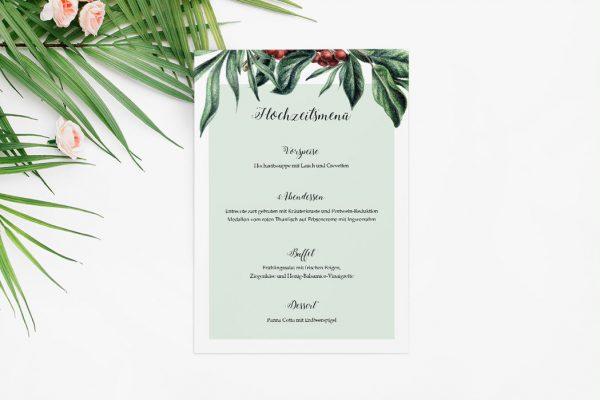 Extras Tropical Sorbus aucuparia Menükarten