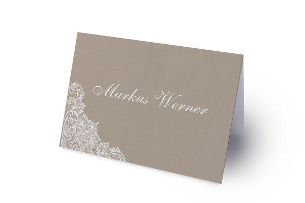 Extras Spitzentraum Crafty Namenschilder & Tischkarten Hochzeit