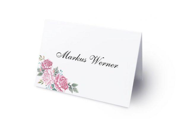 Extras Blumenherz Blumenecke Namenschilder & Tischkarten Hochzeit