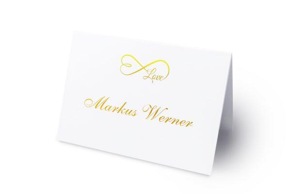 Extras Herzensangelegenheit unendlich Namenschilder & Tischkarten Hochzeit