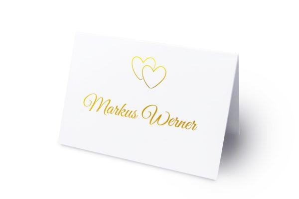 Extras Herzensangelegenheit verschlungen Namenschilder & Tischkarten Hochzeit