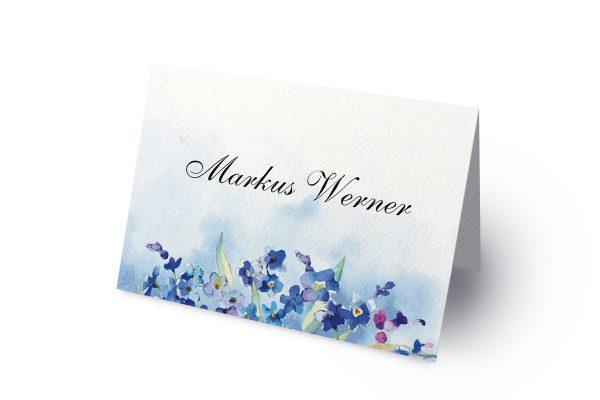 Extras Aquarell Vergissmeinnicht Namenschilder & Tischkarten Hochzeit