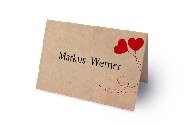 Extras Fingerabdruck Love  Namenschilder & Tischkarten Hochzeit