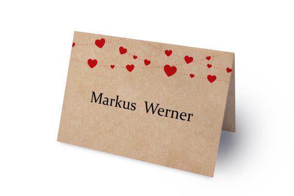 Extras Fingerabdruck Simple Love Namenschilder & Tischkarten Hochzeit