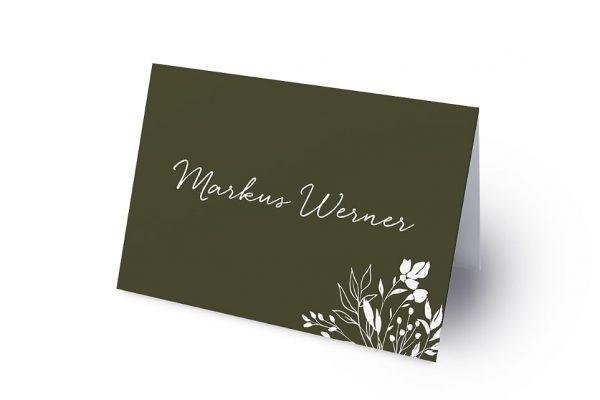 Extras Aufnahme mit Gräserkranz Namenschilder & Tischkarten Hochzeit