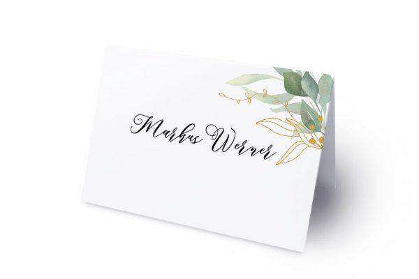 Extras Greenery Golden Namenschilder & Tischkarten Hochzeit
