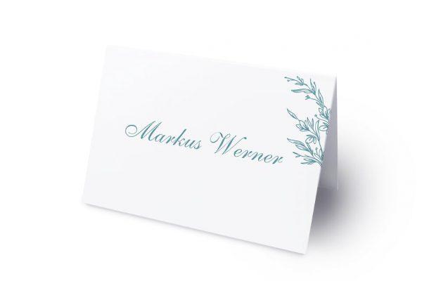 Extras Rosenpracht mit Ehrenkranz Namenschilder & Tischkarten Hochzeit