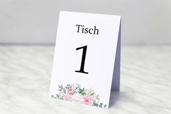 Extras Rosenpracht Gerahmt Tischnummern