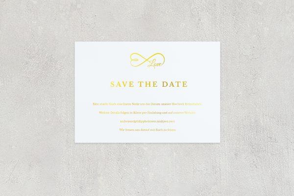 Save the Date-Karten Herzensangelegenheit unendlich Save the Date Karten