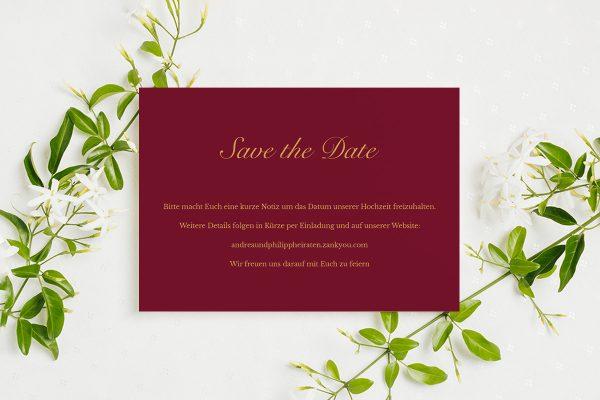 Save the Date-Karten Fotoglam Forever  Save the Date Karten