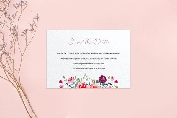 Save the Date-Karten Blumenbeet Luftig Save the Date Karten