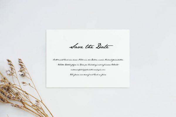 Save the Date-Karten Kalligraphie Handschriftlich Save the Date Karten