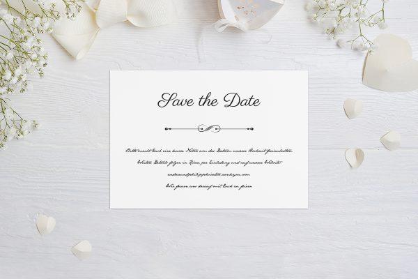 Save the Date-Karten Klassich Unendlich Save the Date Karten