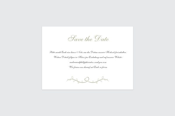 Save the Date-Karten Tender Love  Blau ist die Liebe Save the Date Karten