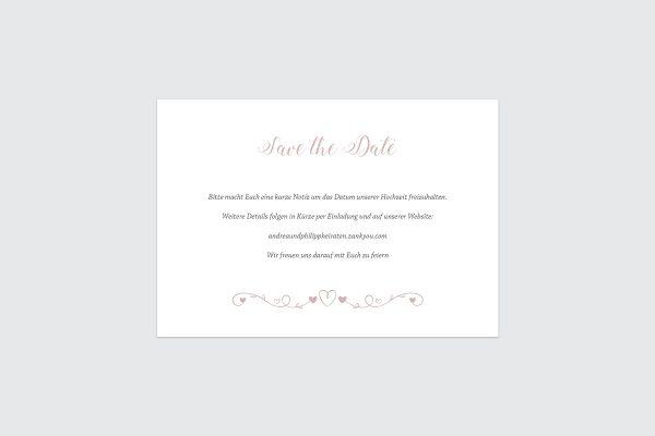 Save the Date-Karten Tender Love  Verspielte Liebe Save the Date Karten