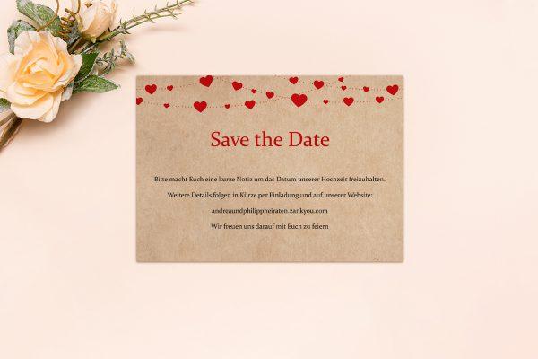 Save the Date-Karten Fingerabdruck Simple Love Save the Date Karten