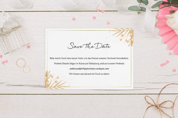 Save the Date-Karten Floral Elegant Traditionell Save the Date Karten