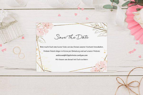 Save the Date-Karten Floral Elegant Blumenzeichnung Save the Date Karten