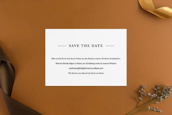Save the Date-Karten Modern Monogramm mittig Save the Date Karten