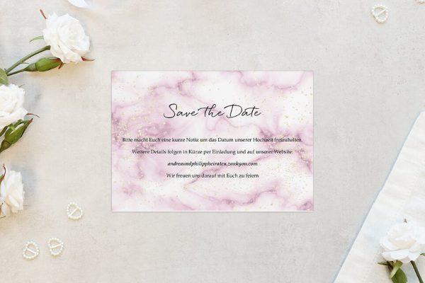 Save the Date-Karten Batik Himbeerfarben Save the Date Karten