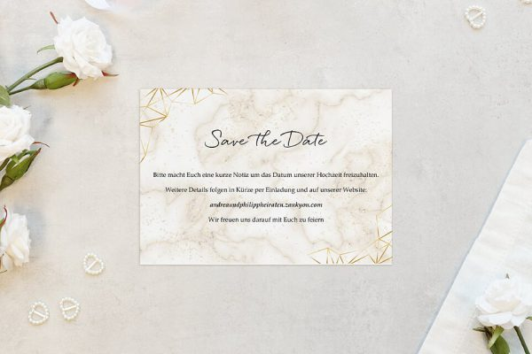 Save the Date-Karten Batik Funkeln Save the Date Karten