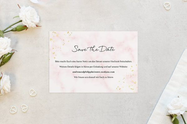 Save the Date-Karten Morgenröte Rosa Hauch Save the Date Karten