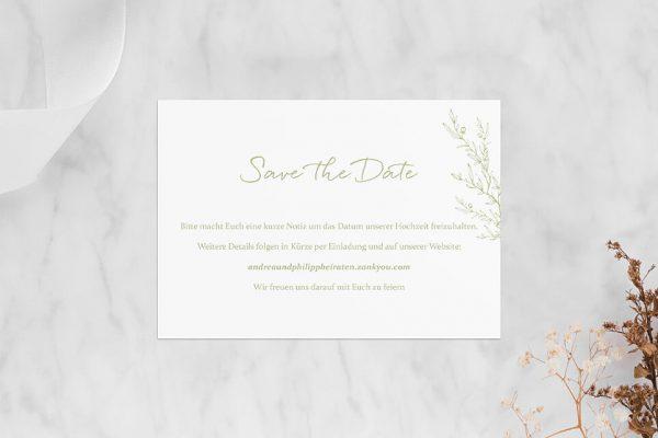 Save the Date-Karten Rosenpracht mit wildem Gras Save the Date Karten