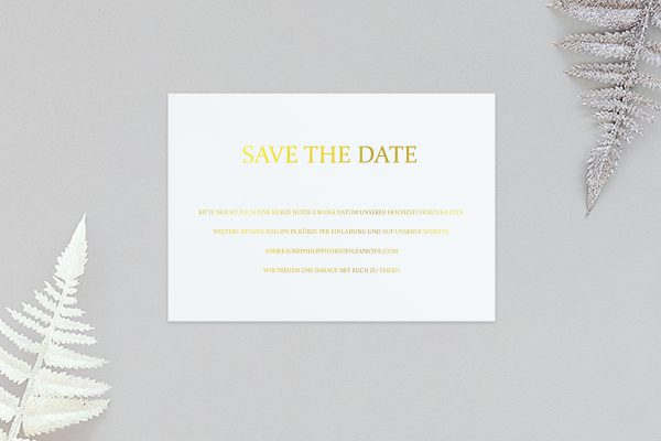 Save the Date-Karten Prachtvoll ungezwungen Save the Date Karten