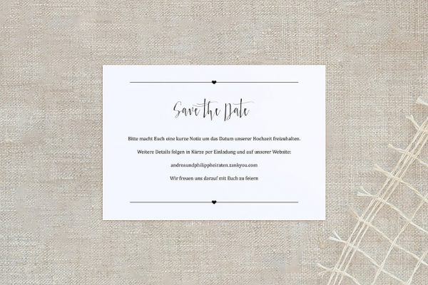 Save the Date-Karten Fotoglück Fotoglück Pünktchen Save the Date Karten
