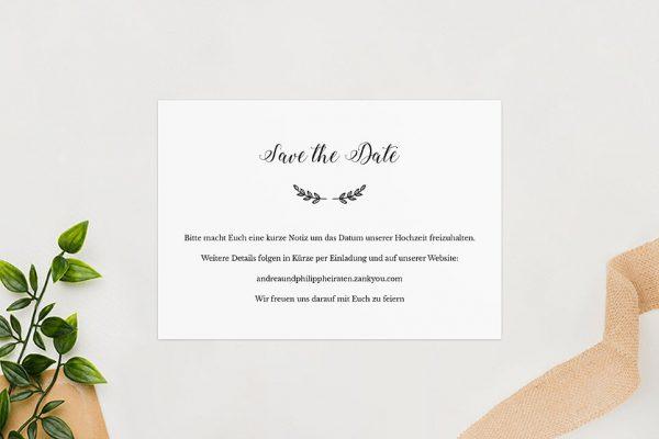 Save the Date-Karten Country Bast Ländlich Save the Date Karten