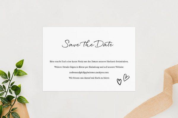 Save the Date-Karten Country Bast Herzig Save the Date Karten
