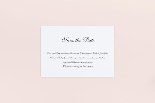 Save the Date-Karten Minimalistisch Sonate Save the Date Karten
