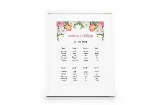 Extras Blumenbeet Apart Sitzplan Hochzeit