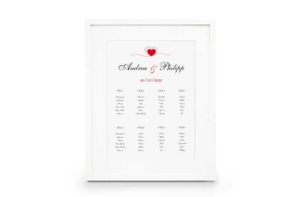Extras Fingerabdruck Herzensding Sitzplan Hochzeit
