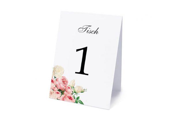 Extras Blumenherz Aromatisch Tischnummern