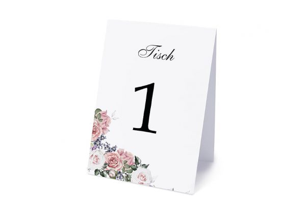 Extras Blumenherz Wohlriechend Tischnummern