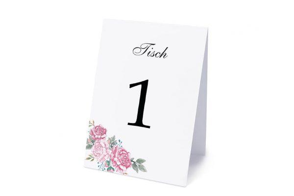 Extras Blumenherz Blumenecke Tischnummern