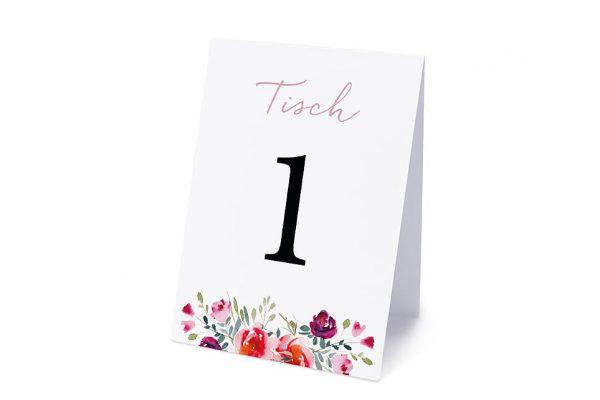 Extras Blumenbeet Luftig Tischnummern