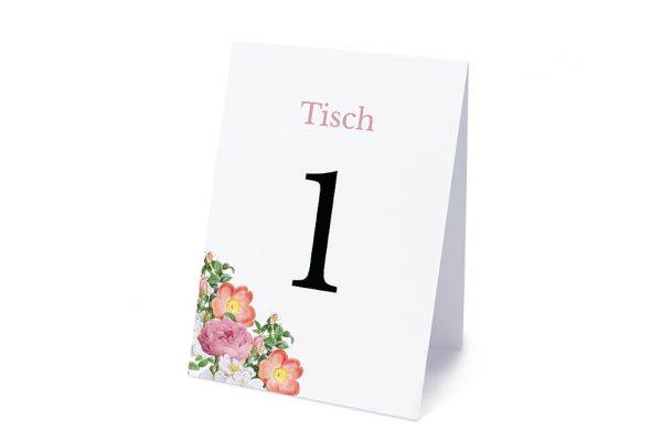 Extras Blumenbeet Apart Tischnummern