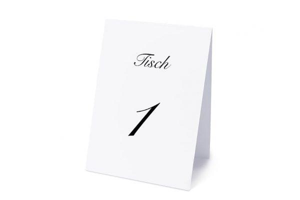Extras Kalligraphie Elegant geschrieben Tischnummern