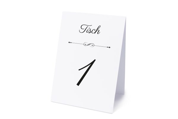 Extras Klassich Unendlich Tischnummern