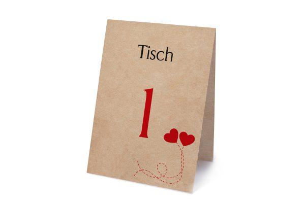 Extras Fingerabdruck Love  Tischnummern