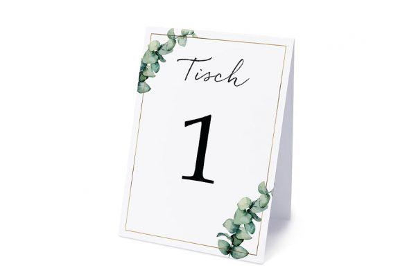 Extras Floral Elegant Romantisch Tischnummern