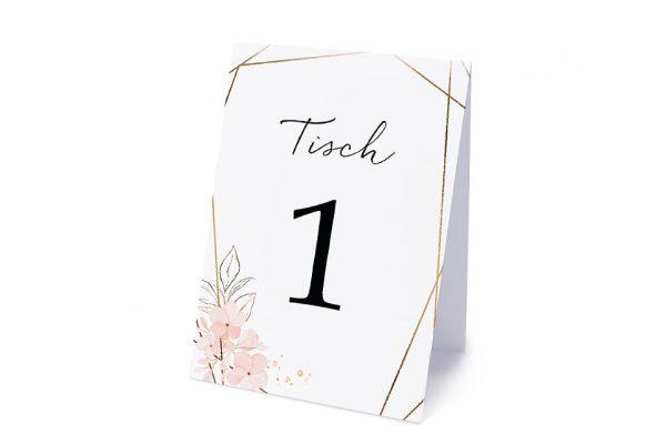 Extras Floral Elegant Blumenzeichnung Tischnummern