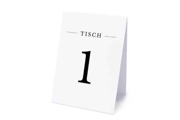 Extras Modern Monogramm mittig Tischnummern