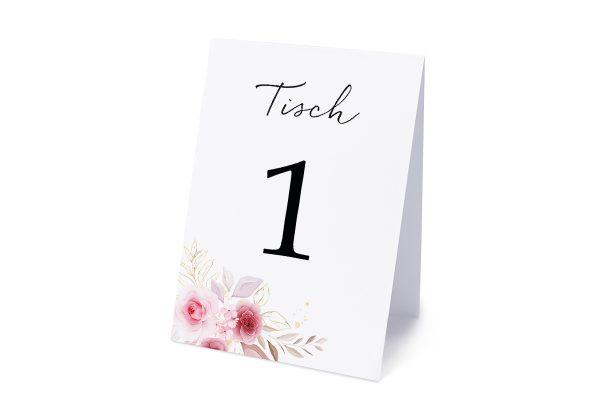 Extras Minimalistischer Kranz Zart Rosa Tischnummern