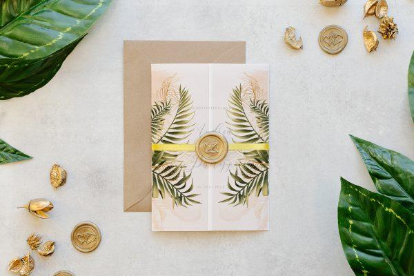Hochzeitseinladungen Hochzeitseinladungen Greenery Exotisch