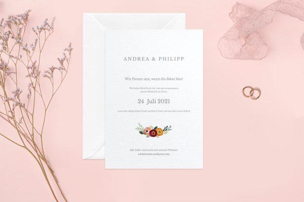 Hochzeitseinladungen Hochzeitseinladungen Blumenbeet Sorglos