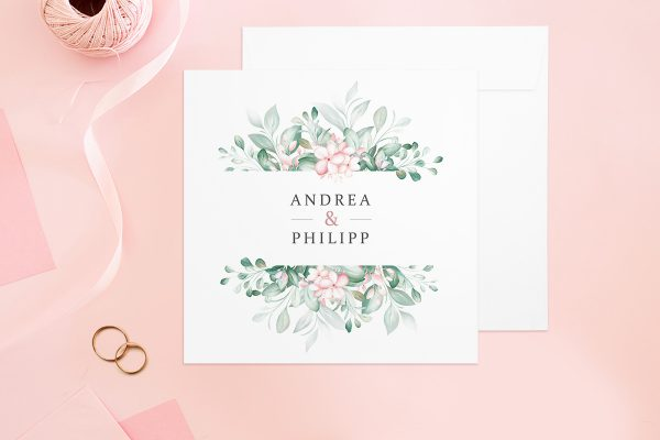 Hochzeitseinladungen Hochzeitseinladungen Rosenpracht Kunstvoll